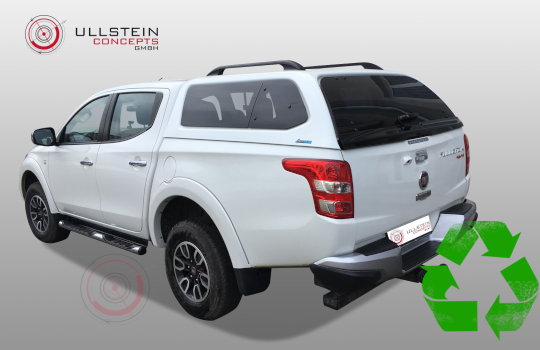 Canopy Mitsubishi L200 2016 double cab Green-Top pop-out windows