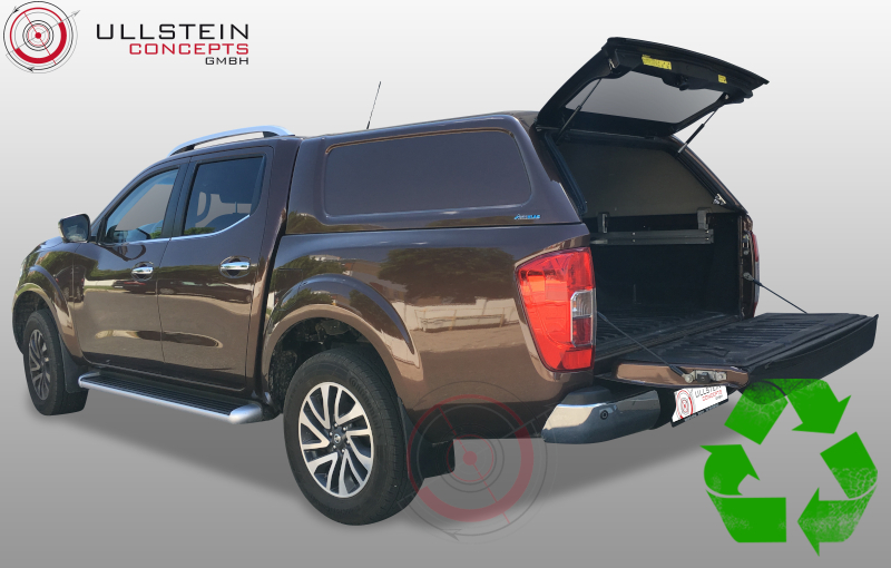 hardtop green top ohne seitenfenster nissan navara 2016. Black Bedroom Furniture Sets. Home Design Ideas