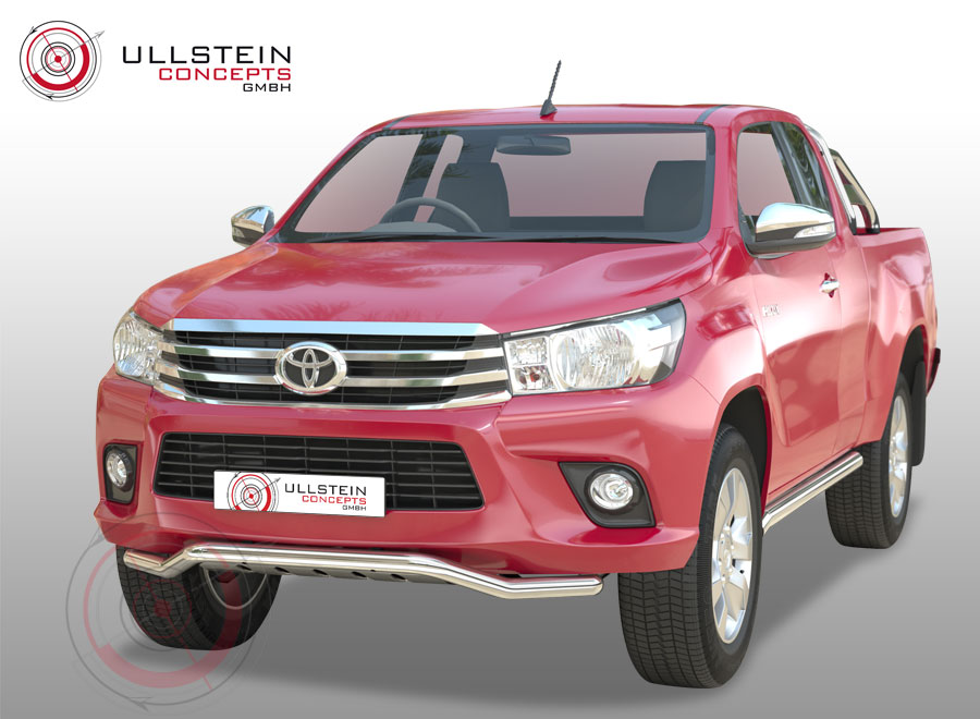 Spoiler with underride protection Toyota Hilux