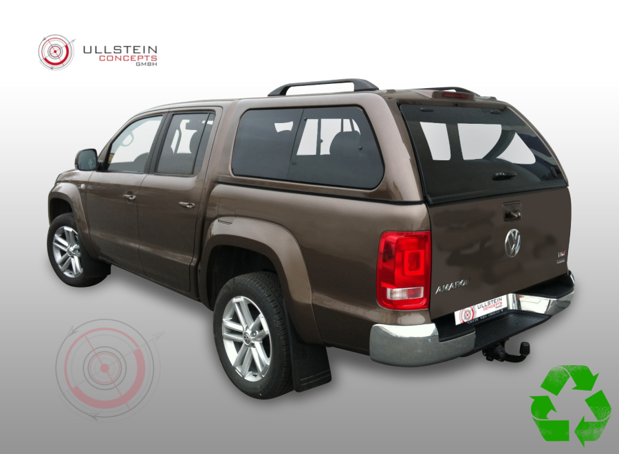 hardtop green top pop out windows volkswagen amarok 2016. Black Bedroom Furniture Sets. Home Design Ideas