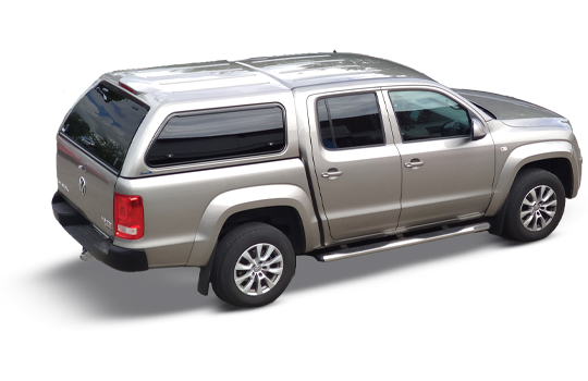 VW Amarok Canopy Green-Top glass side doors