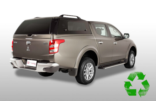 Canopy Mitsubishi L200 double cab Sammitr V4 with glass side doors