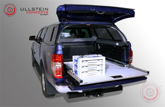 piano di carico estraibile per pick-up WORKS Standard Ford Ranger cabina doppia